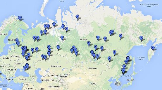 и Москва. Карта всех наших